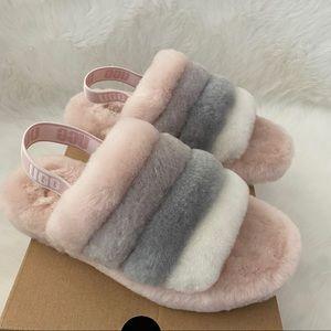 New UGG Fluff Yeah Sandals Quartz Multi K5 W7